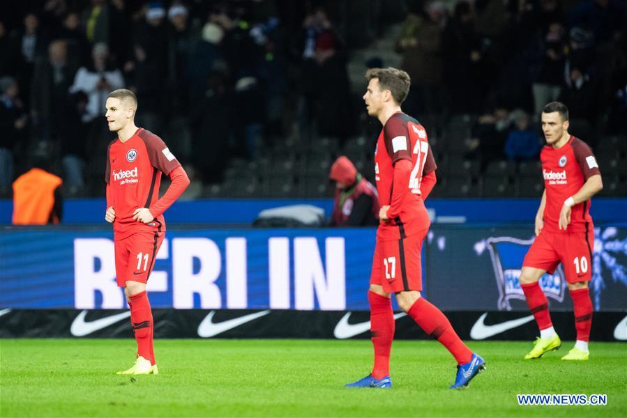 German Bundesliga: Hertha BSC beats Eintracht Frankfurt 1-0