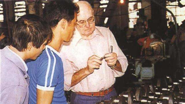 Undated picture of Werner Gerich working in China. [File photo: CGTN]