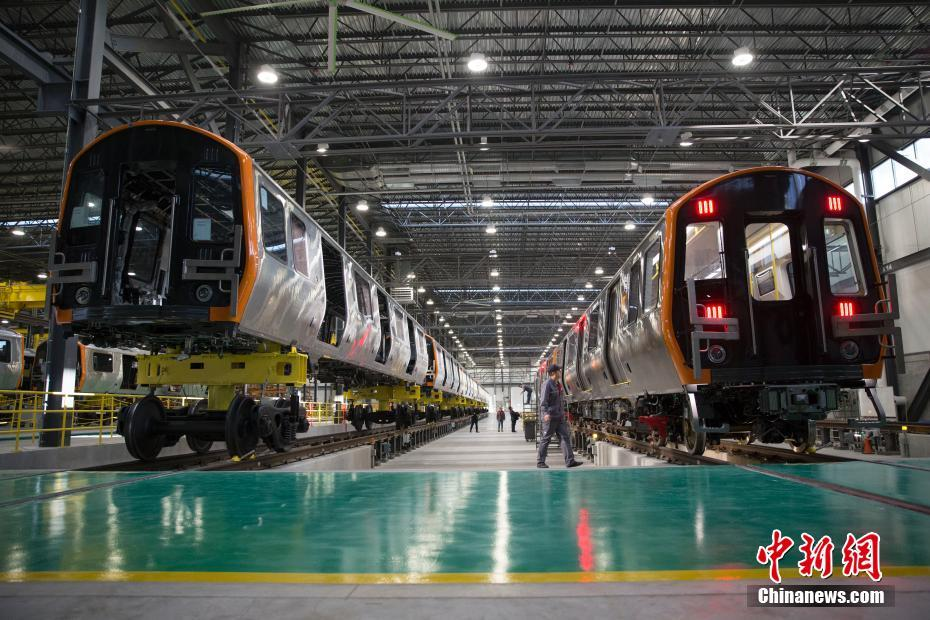 The assembly plant China Railway Rolling Stock Corporation in Springfield, Massachusetts, on Dec. 18, 2018. [Photo: chinanews.com]