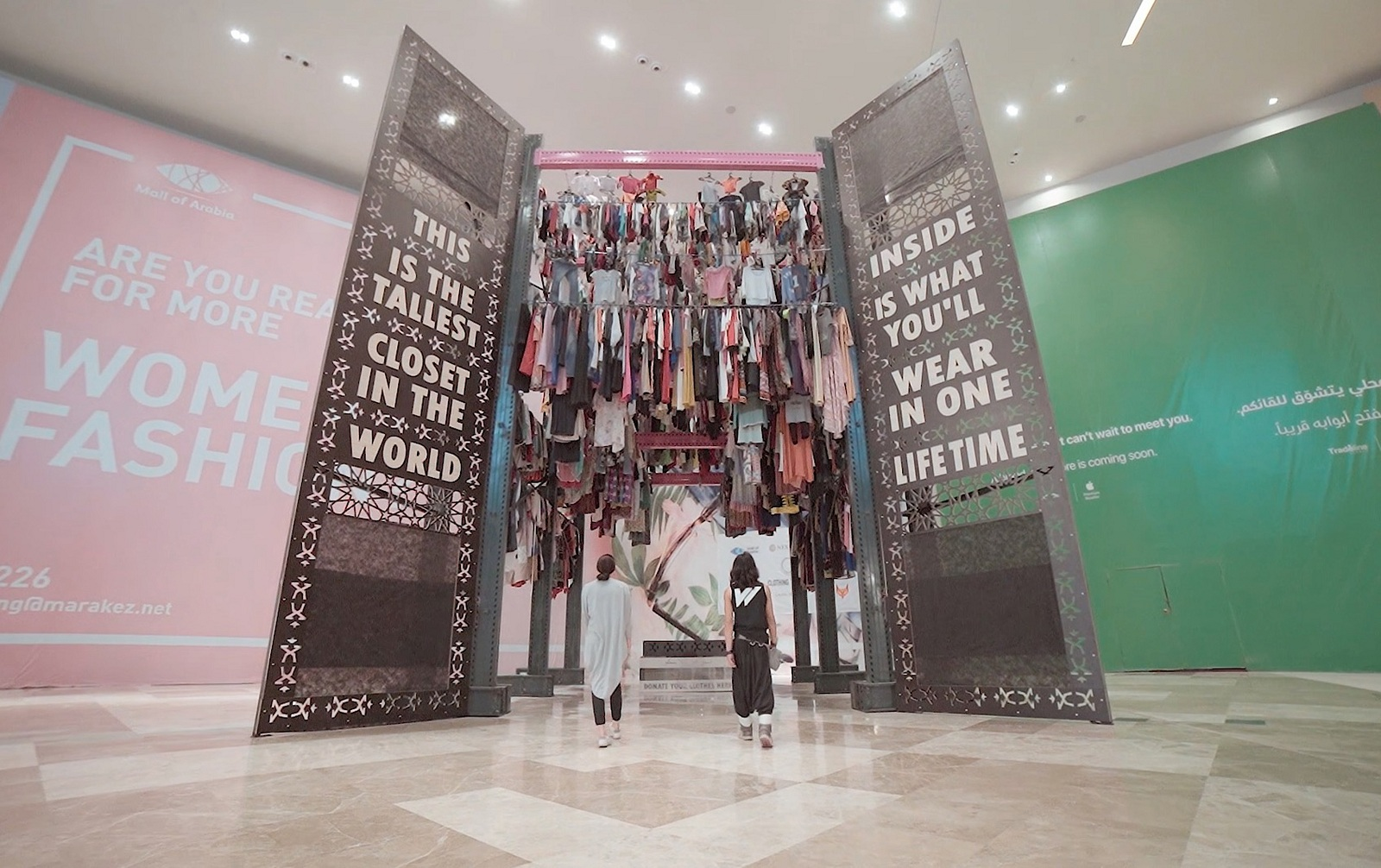World's tallest closet raises awareness of the cost of fast fashion