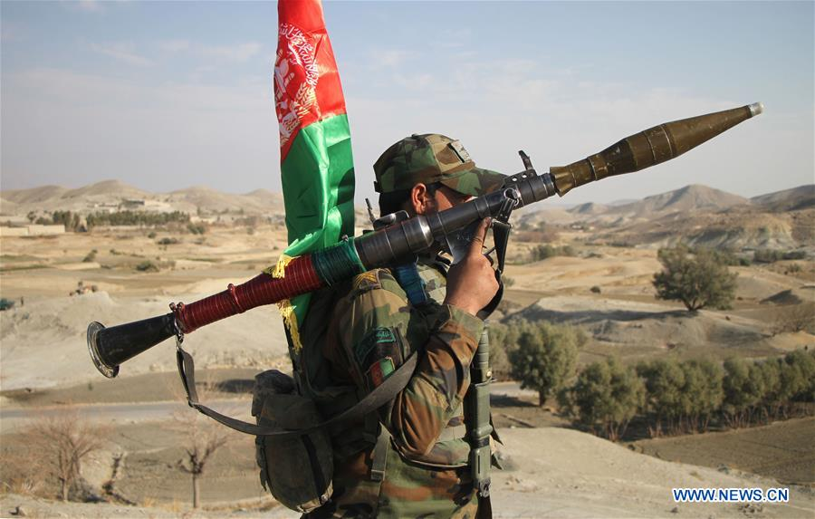 Afghan security force take part in military operation in Nangarhar province