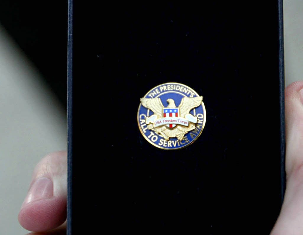 Medal of the President's Volunteer Service Award [File photo: IC]