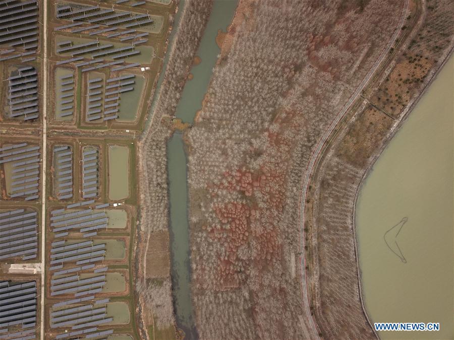 Scenery of Hongze Lake in Huai'an, E China's Jiangsu