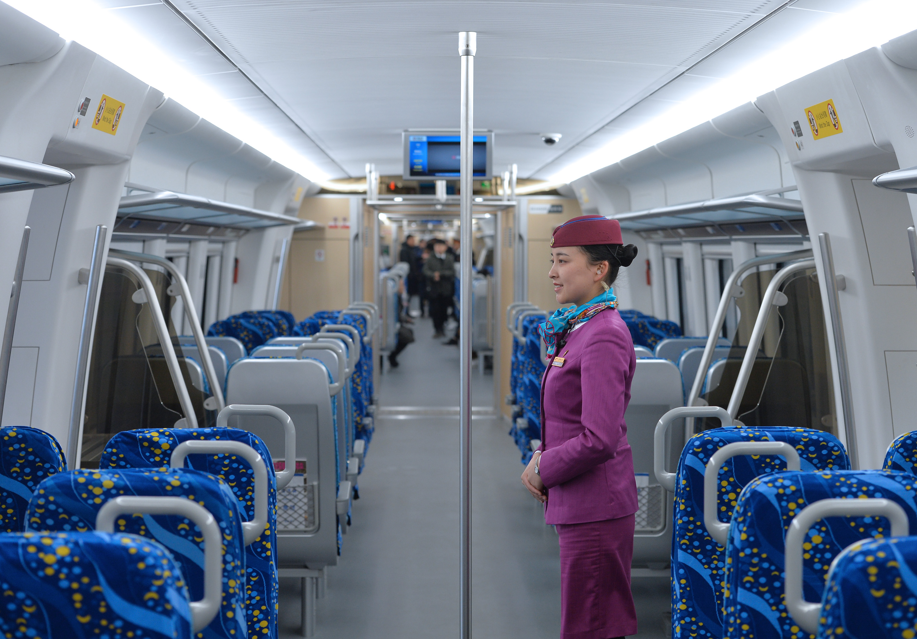"""This photo taken on Tuesday, December 29, 2018 shows the inside of the """"Tianfu"""" bullet train. [Photo: IC]"""