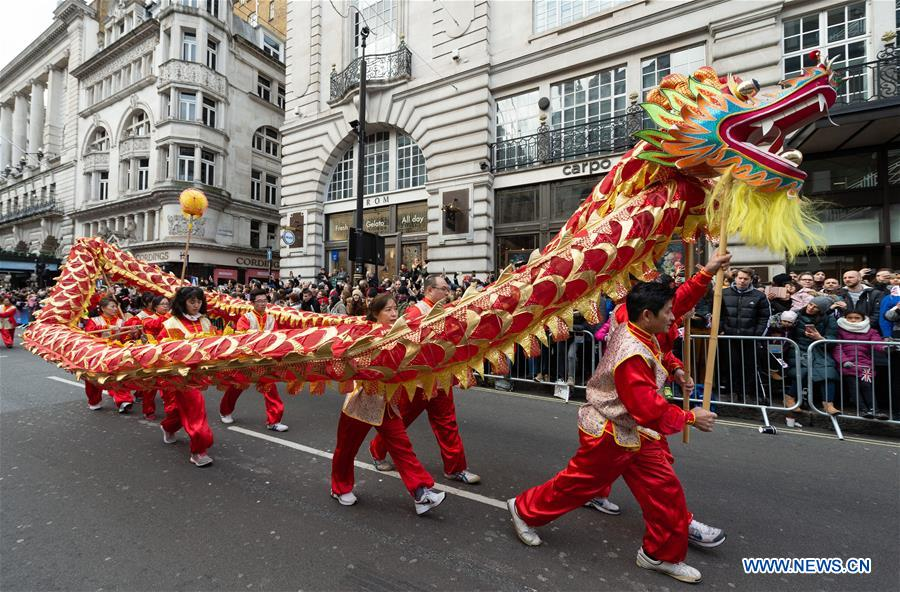 Annual New Year's Day Parade held in London