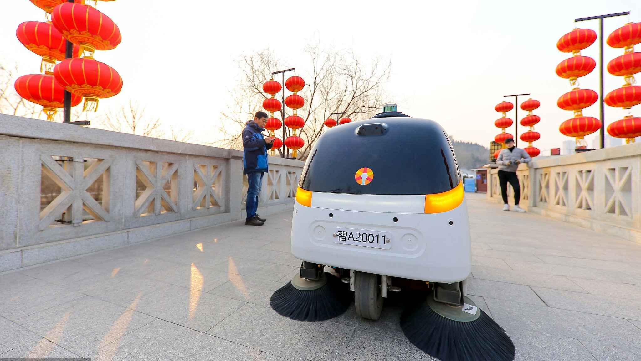 Tianjin launches unmanned cleaning machine