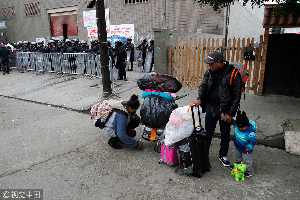 Mexico shuts down temporary shelter for migrants heading to US