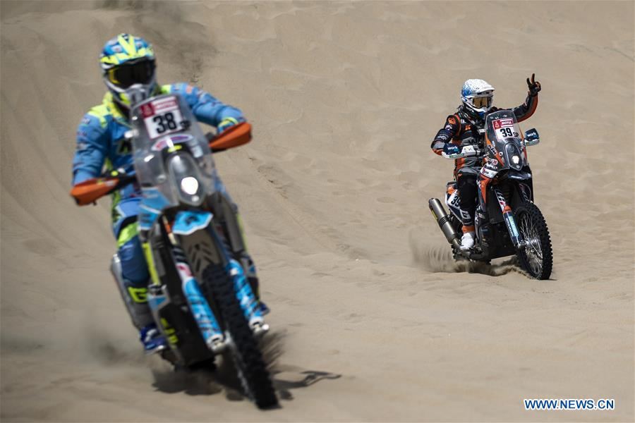 Highlights of 2nd stage of 2019 Dakar Rally Race