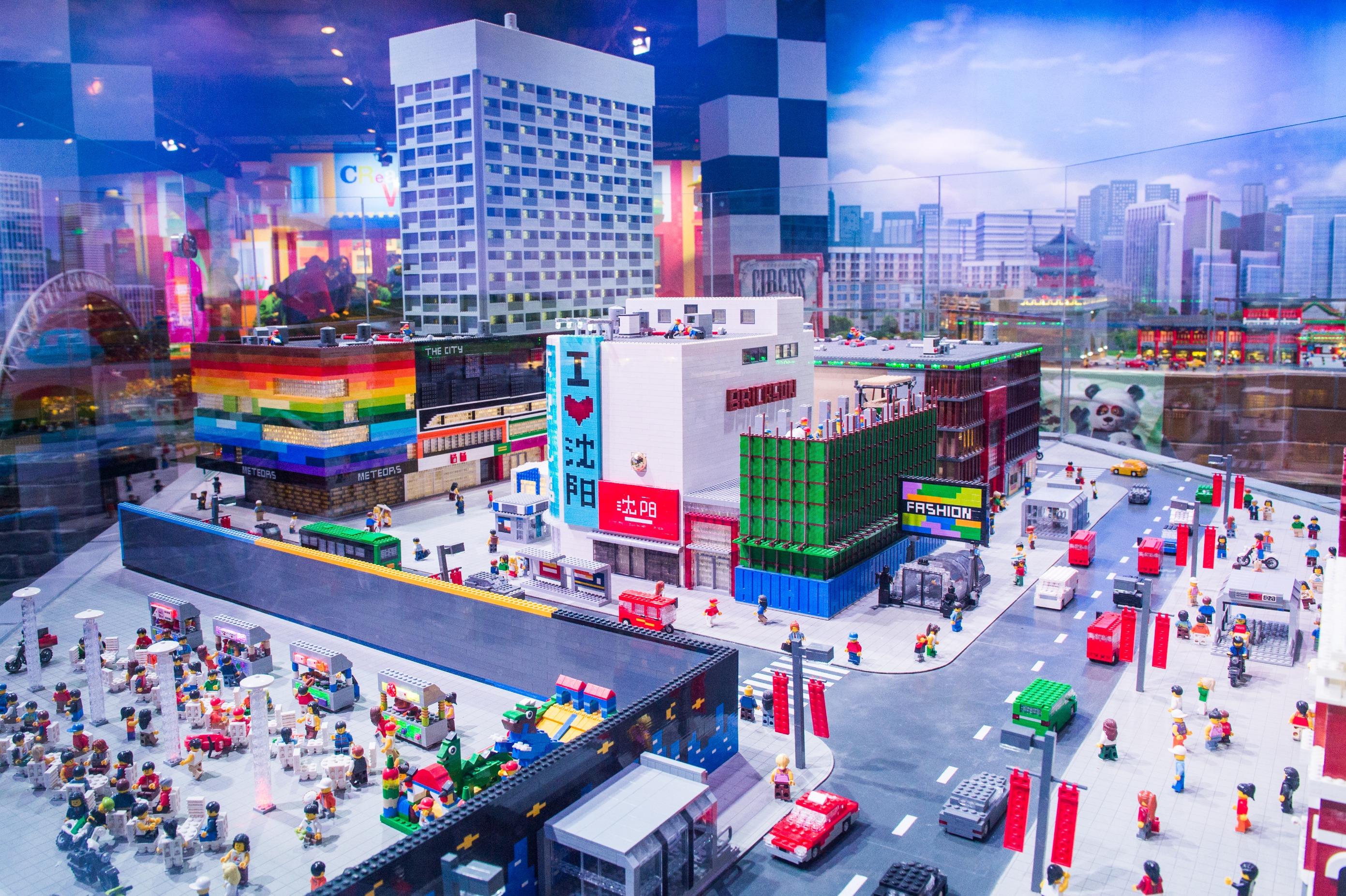 Lego artwork of Shenyang landmark buildings