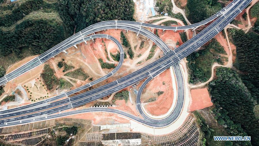 Libo-Rongjiang expressway in SW China's Guizhou opens to traffic