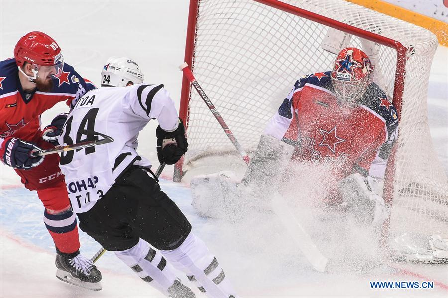 CSKA beats Traktor Chelyabinsk 6-0 at 2018-2019 KHL game