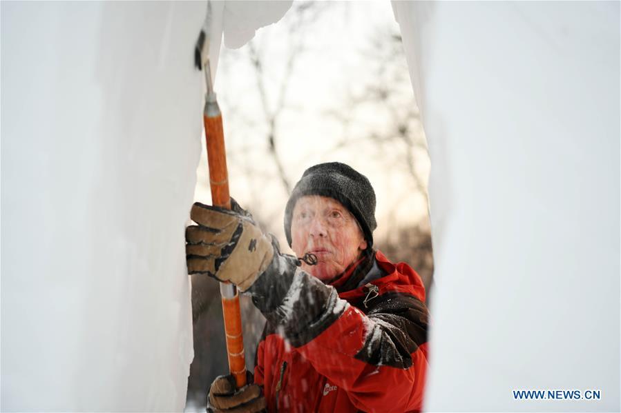 CHINA-HARBIN-SNOW SCULPTURE (CN)