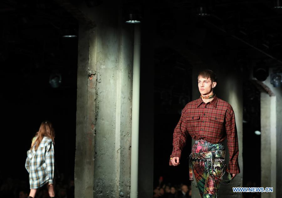 Models present creations for Dsquared2 during Milan Men's Fashion Week