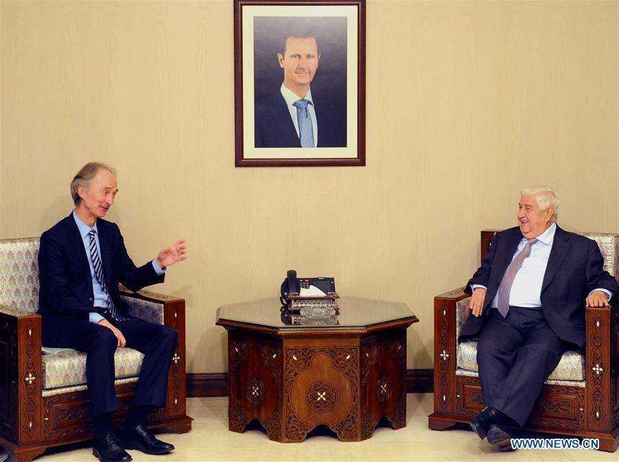 New UN envoy meets with Syrian FM in Damascus, Syria