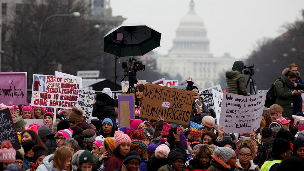 Thousands gather for Women's March to calls for women's equality