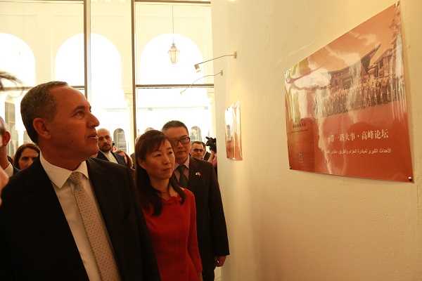 minister-counsellor Hongyan He and the minister of culture,Azzedine Mihoubi. photo.jpg