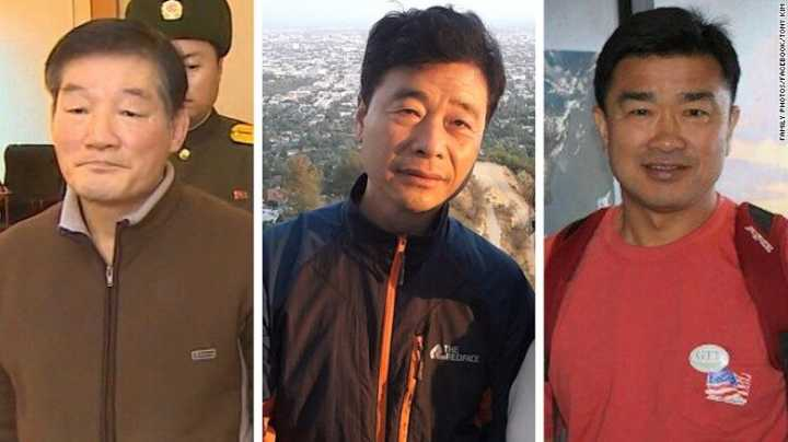 Three US detainees freed in N.Korea, headed home: Trump