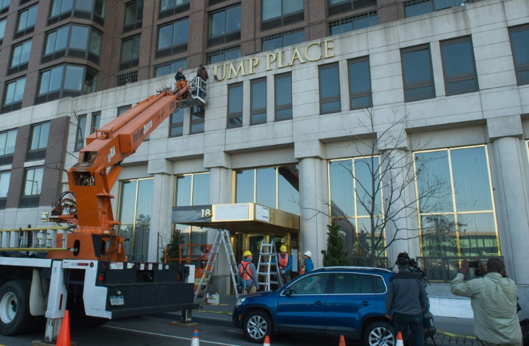 NY judge rules building can dump Trump name