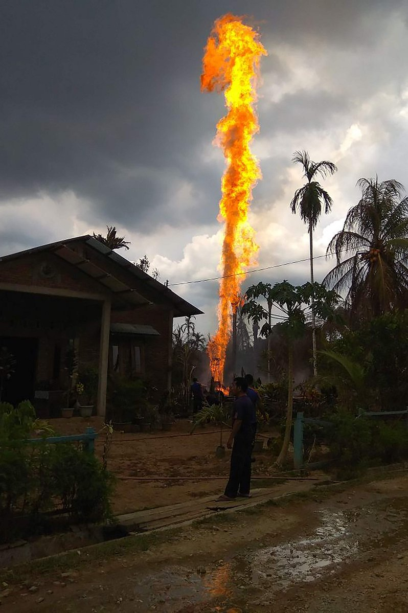At least 10 killed, 19 injured as oil well catches fire in Aceh, Indonesia