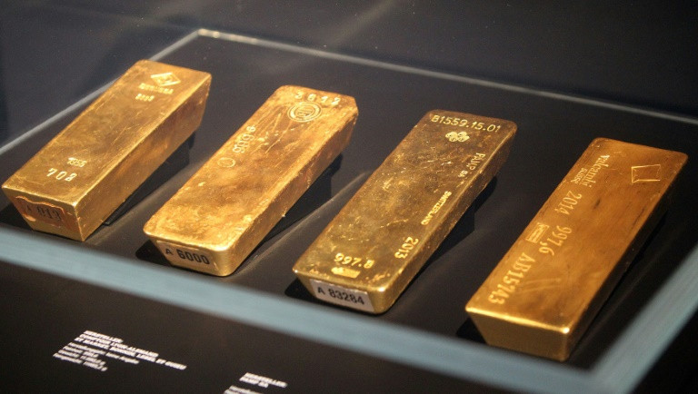Finally home, Bundesbank's gold goes on show