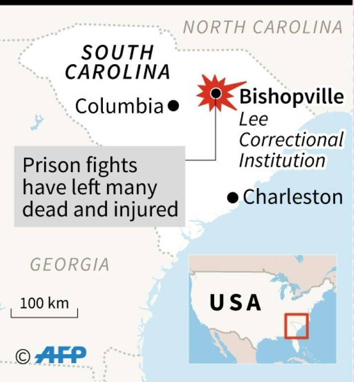Seven killed, 17 injured in South Carolina prison riot