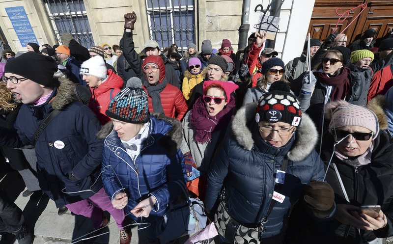 Women in Poland protest plans to tighten anti-abortion law