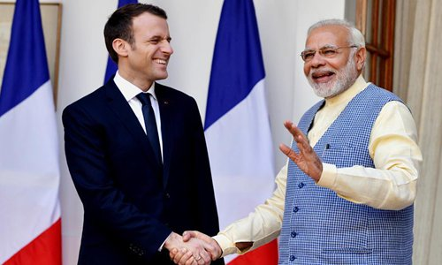 Indian media read too much into Macron's visit