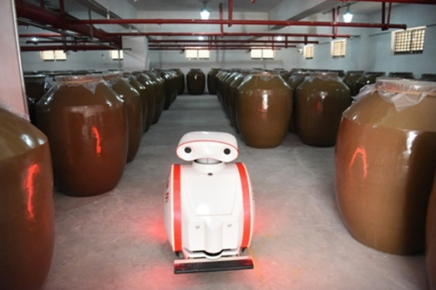 China's leading distiller uses robot for security inspections