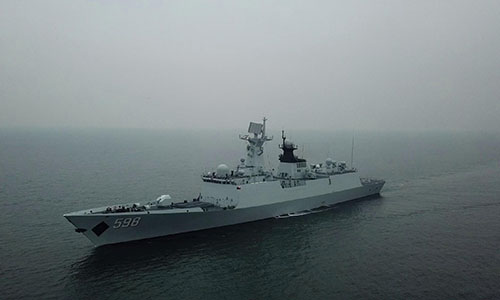 Frigate Rizhao participates in 8-day maritime training - Global Times
