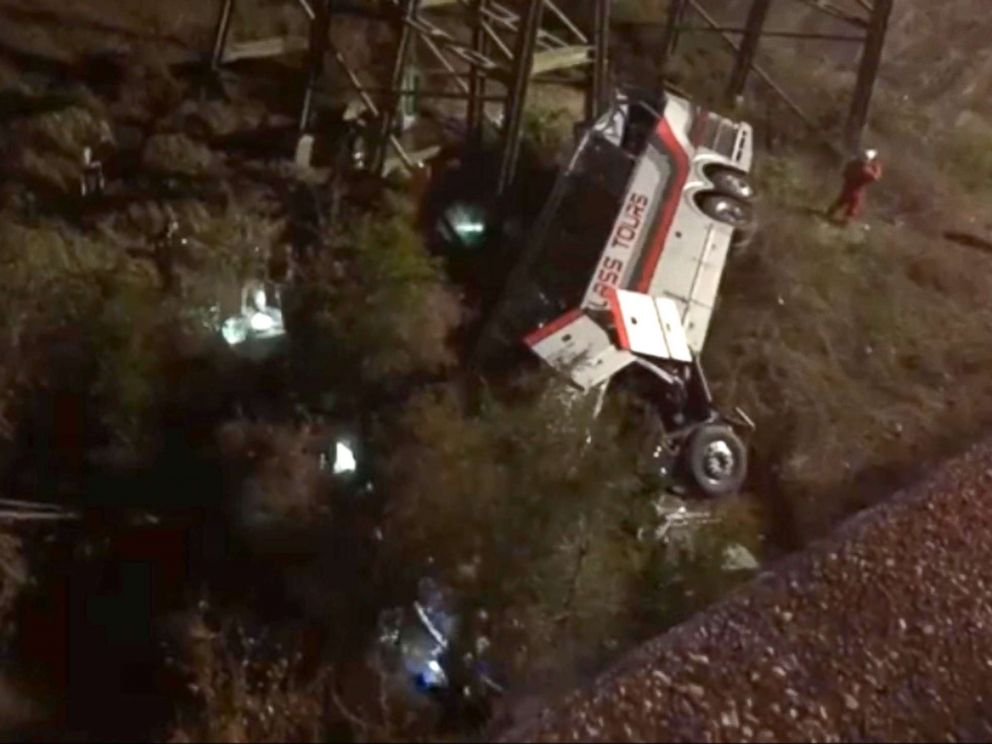 School bus carrying dozens plunges into ravine in US state of Alabama, death feared