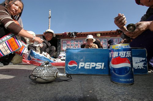 The new mainstay of Tibetan food culture: cola