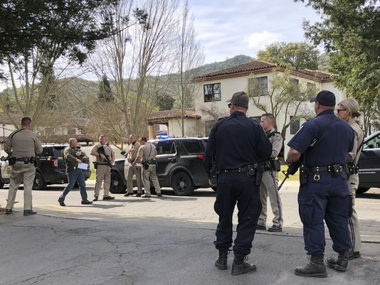 Image result for A gunman opens fire in California, three hostages