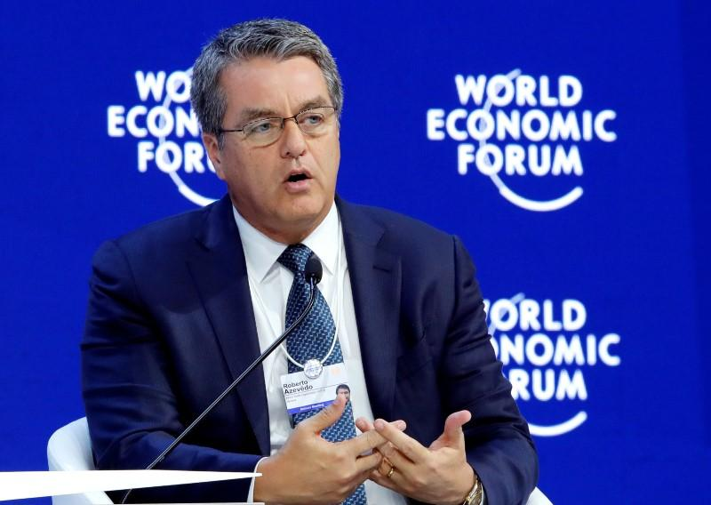 """""""WTO chief urges states to stop first dominoes of trade war""""的图片搜索结果"""