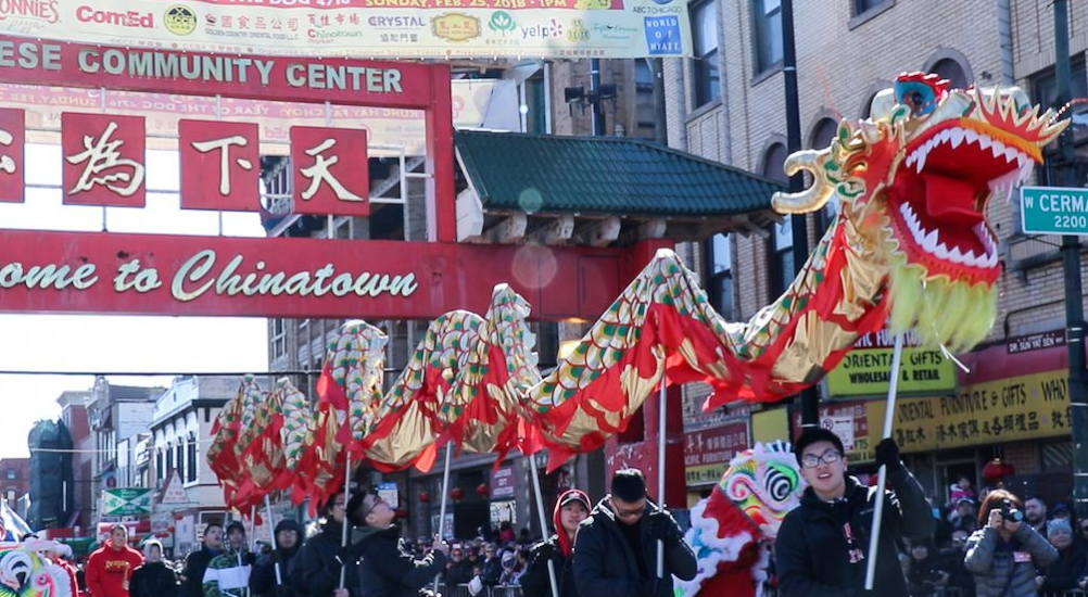 Lantern procession marks Chinese New Year in Chicago