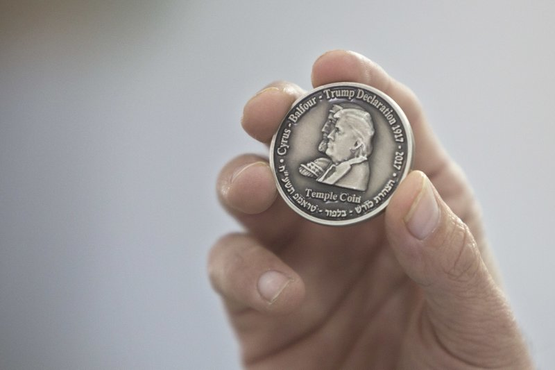 Israel group mints Trump coin to honor Jerusalem recognition