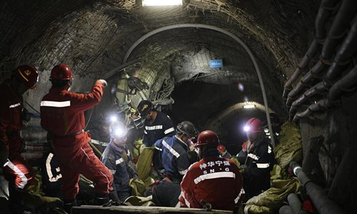 Coal mine workers work during Spring Festival to guarantee production safety