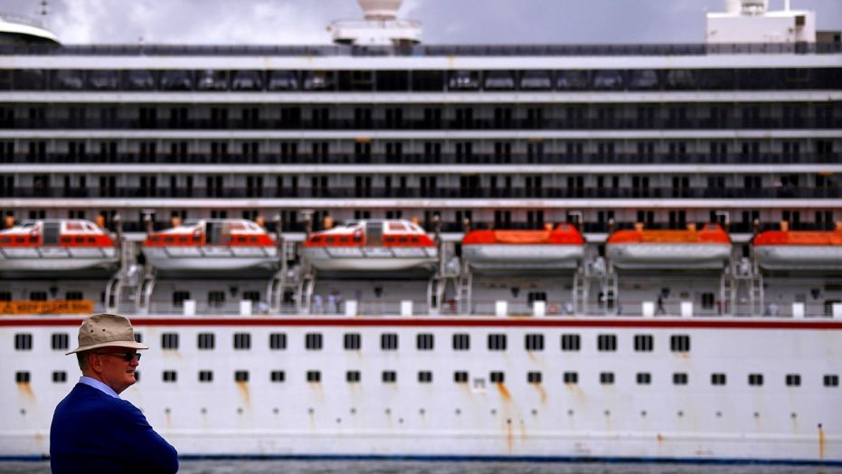 """Carnival Cruise Line confirmed that """"a large family group"""" was removed from its Carnival Legend liner (seen above in May 2017) over """"disruptive and violent acts"""" they were involved with on Friday morning."""