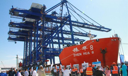 China's cranes to promote Namibia's port construction