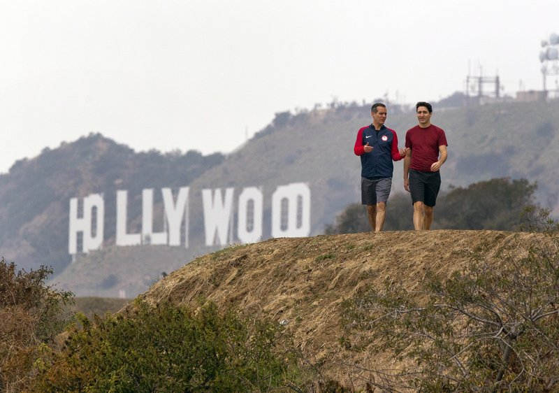 Canadian PM Trudeau and LA mayor toast friendship with hike