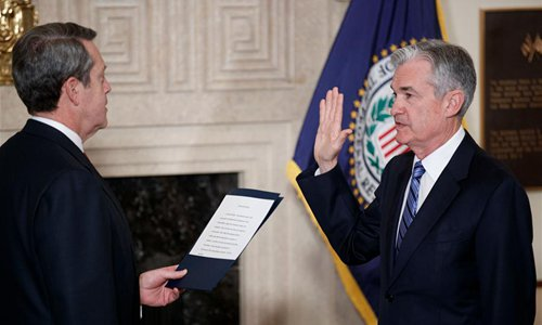 Jerome Powell sworn in as US Fed chief