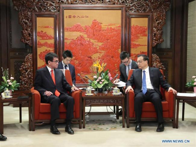 Kono's visit aims to open lines of communication for China-Japan ties