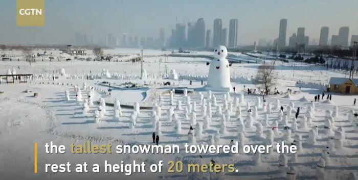 Video: Thousands of snowmen line up in Harbin