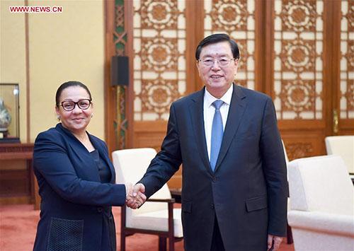 China's top legislator meets Gabon's Senate leader