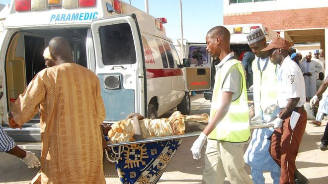 Suspected Boko Haram suicide bombers kill 12, injure 48