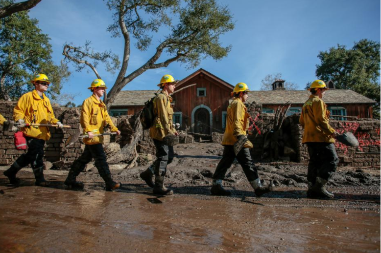 California police hope for 'miracle' to find missing in mudslide