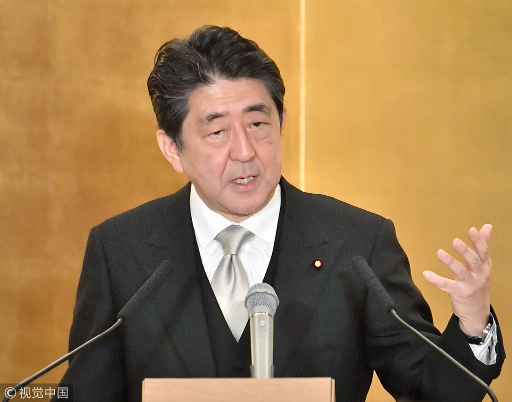 Japan's Abe says to respond to individual cases related to China's Belt and Road Initiative