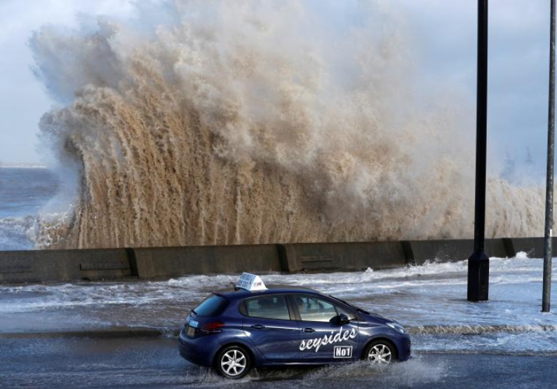 Winter storms batter Europe