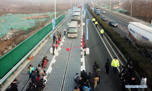 China's solar expressway meets light of day