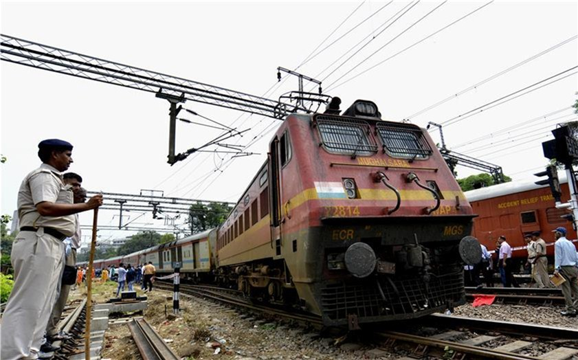 Passenger train derails in Indian capital