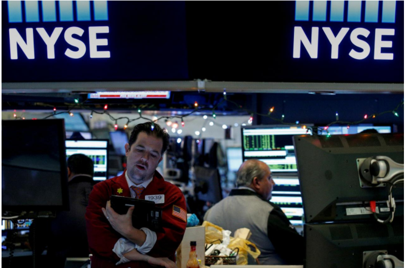 Wall Street lower as iPhone X concerns hit Apple shares